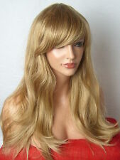 Blonde Womens Fashion Party Long Wavy Curly Full real sexy cosplay Ladies Wig C8