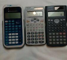 Scientific Financial Business Calculators Casio Sharp Texas Instruments Lot 3