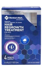 Minoxidil 5% Foam Hair Regrowth Men 4 months Members Mark (2.11oz x 4 ct)