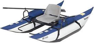 Roanoke 1-Person Pontoon Boat Kayak Canoe Water Sports Pedal Lightweight Oars