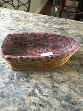 Longaberger Row Your Boat basket, 2004 w/ liner & protector, Euc
