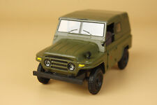 1/24 China BJ212 JEEP green color diecast model ( mint without box)