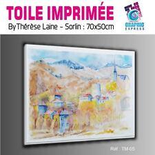 TOILE IMPRIMEE 70x50 cm - IMPRESSION SUR TOILE - TM-05- PAYSAGE MONTAGNE NATURE