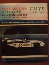 Coys - 19th November 2005 - Auto Moto D'Epoca - Fiera di Padova, Italy