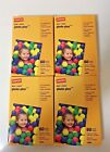 Lot of 4-Pack Staples 4X6 Photo Plus Gloss Paper - 60 x 4  240 sheets New