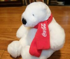 "Coca-Cola 6"" Polar Bear with Scarf (Authorized) - Plush Collectible Traly 15088"