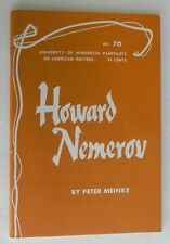 Howard Nemerov by Peter Meinke , Univ. of Minnesota Pamphlets No. 70