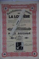 La Louvière Hauts-Fourneaux et Fonderies de La Louvière  lot de 3 actions