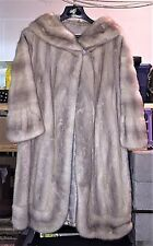LADIES 3/4 LENGTH AZURENE MINK FUR COAT SIZE S