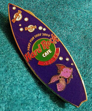 UNIVERSAL OSAKA PURPLE FISH BUBBLES SURFBOARD SERIES 2000 Hard Rock Cafe PIN