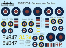 Supermarine Seafires 1/72nd scale decals