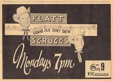 1960 WTVC TENNESSEE TV GUIDE AD~FLATT & SCRUGGS GRAND OLE OPRY Country Music