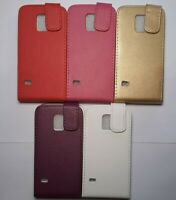 Vertical style PU leather flip phone case, cover to fit Samsung Galaxy S5 mini