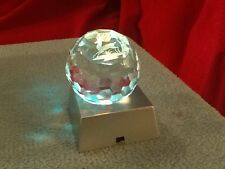 3D Laser Etched Crystal Paperweight DEER RUNNING FACETTED BALL Display