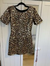 French Connection sequin Leopard Print Dress Size 10