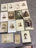 Lot Of Antique Photos-Cabinet Cards And 1 CDV