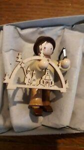 Small German Christmas Village ornaments Woodcarver Figure