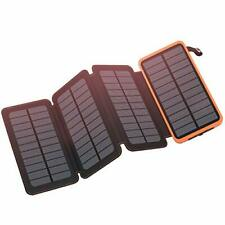 FEELLE Solar Charger 25000mAh Power Bank Dual 2.1A USB Output Portable Phone