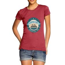 Twisted Envy Camping Time Adventure Time Women's Funny T-Shirt