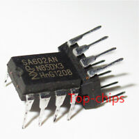 10PCS SA602AN DIP-8 Sockets & Adapters IC, DOUBLE BALANCED MIXER, 200MHZ