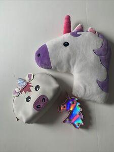 unicorn bedroom bundle Cushion, Light, Makeup Bag