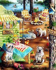 English Bulldog 11x14 GiCLEE ART PRINT frameable DIRECT FROM ARTIST