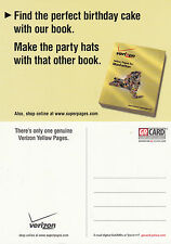 VERIZON YELLOW PAGES UNUSED ADVERTISING COLOUR  POSTCARD
