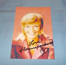 Florence Henderson Signed Autographed Photo Actress The Brady Bunch