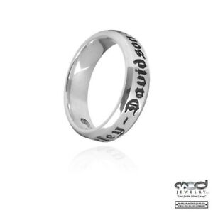 Ladies Harley-Davidson Sterling Silver Comfort Fit Wedding Band 64 /  HDR0217