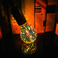 E27 6W Colorful A60 3D Christmas Holiday LED Fireworks Light Lamp Bulb SL