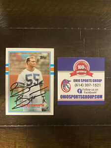 Brian Bosworth Autographed 1989 Topps Card #192 - Ohio Sports Group COA
