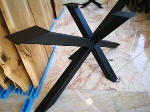 Tischuntergestell Kreuzgestell Industrie Esszimmertisch KX-80 140x70cm