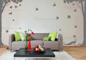 Large Full Tree Sticker with Birds Wall Art Vinyl Wall Sticker DIY Home Decor