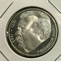 1975 GERMANY SILVER 5  MARKS BRILLIANT UNCIRCULATED COIN