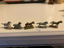 Vintage pewter figurines from Dungeons and Dragons 5 miniature horses Lot 37