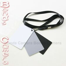 18% Black Grey White Balance Card Set for DSLR Camera Canon Nikon Sony Pentax