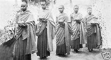 Nepalese Buddhist Monks Exiled Nepal 1926 Mahapragya 7x4 Inch Reprint Photo