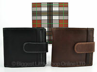 NEW Mens TOP Quality BLACK or Brown LEATHER WALLET by MALA Gift Boxed NEO Series