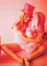 POSTER : ACTRESS : ALICIA SILVERSTONE WITH PLUSH ELEPHANT- FREE SHIPPING  LC27 N