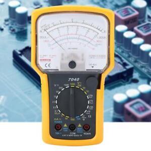 KT7040 Multifunctional Analog Multimeter ACV DCV DVA Ω Batt LED Tester