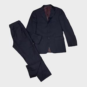 M&S COLLEZIONE Mens 2 Piece Suit Jacket Size 38 Trouser W32 L29 Cashmere Wool