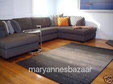 Black Grey  Modern Rug 230 x 160 FREE DELIVERY 2221