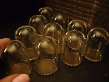 10 TINY GLASS BELL JAR DOMES jewelry steampunk crafts MINIATURE TAXIDERMY bottle