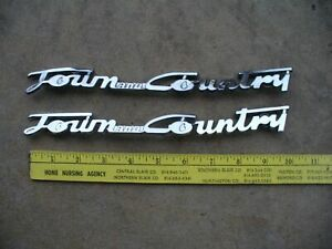 1946 1947 1948 CHRYSLER TOWN AND COUNTRY NAME PLATES MOPAR C38 C39 WOODIE WOODY