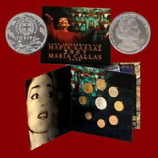 Greece  Greek BU 2007 KMS 1c-2e  Plus Maria Callas10 EURO SILVER PROOF coin