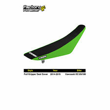Motoseat Ribbed Traction Seat Cover Black//Green//Black for Kawasaki KX80 1991-2000