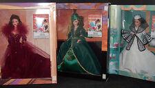 Set 3 Gone with the Wind Barbie Dolls Scarlett O'Hara Hollywood Legends NRFB