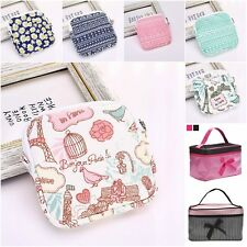 Portable Cosmetic Makeup Travel Storage Zip Case Toiletry Womens Pouch Organizer