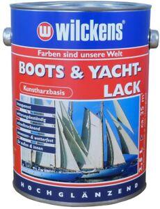 2,5 Liter Wilckens Bootslack & Yachtlack Hochglänzend transparent Klarlack