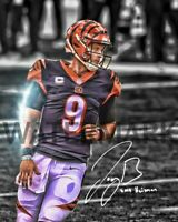 JOE BURROW AUTOGRAPHED RP 8X10 PHOTO EDIT CUSTOM NFL CINCINNATI BENGALS